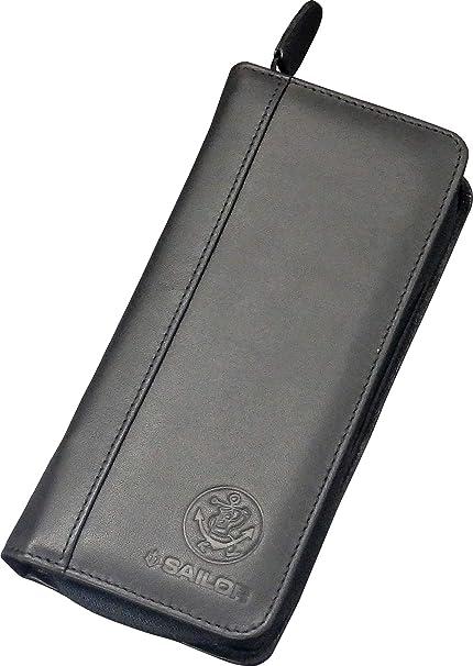 セーラー万年筆 万年筆ケース ポータブル 3本用 ブラック 37-9040-220