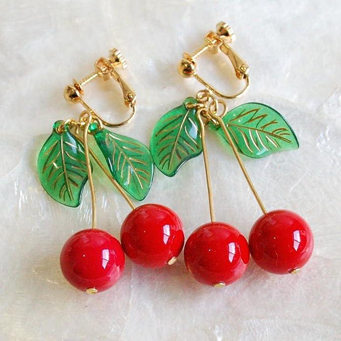 【Gargle/ガーグル】 sweet cherry イヤリング / レッド