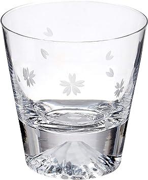 プレゼント 富士山グラス ロックグラス スノーマウンテンカップ 硝子 ビールグラス コップ お酒 ウイスキー 木箱が付き