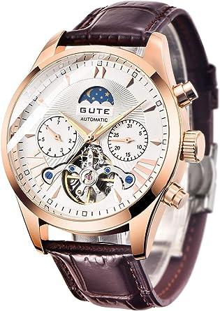 腕時計メンズうで時計ビジネスお洒落カジュアルオシャレアンティーククラシック格付キング高級自動巻き機け人気ブランドラン械式革バンド日月表示