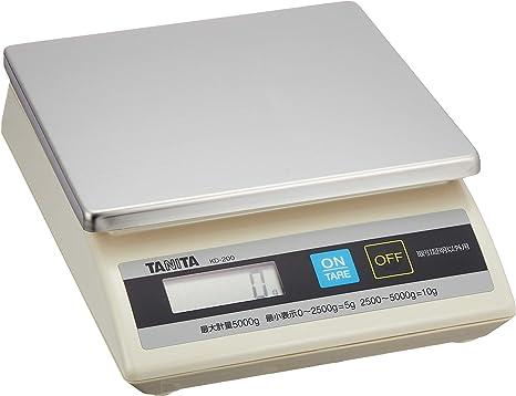 タニタ キッチンスケール はかり 業務用 防滴 卓上スケール (取引証明以外用) 5kg KD-200