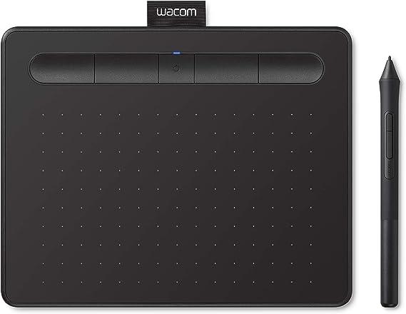 【Amazon.co.jp限定】ワコム ペンタブレット Wacom Intuos Smallワイヤレス クリスタ付き 黒 Androidにも対応 データ特典付き TCTL41...