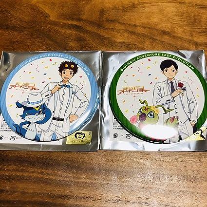 デジモンアドベンチャー LAST EVOLUTION 絆 カラ鉄 缶バッジ 大輔&賢
