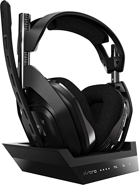ASTRO Gaming PS4 ヘッドセット A50 WIRELESS + BASE STATION 5.1ch ワイヤレス接続 PS4/PC/Mac A50WL-002 ...