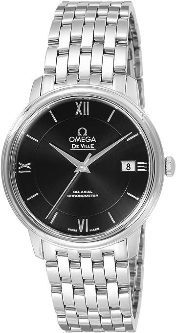 [オメガ] 腕時計 デ・ビル ブラック文字盤 コーアクシャル自動巻 デイト 424.10.37.20.01.001 並行輸入品