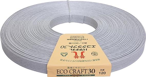 ハマナカ エコクラフト 約 15mm巾 30m巻 Col.120 グレー 2508