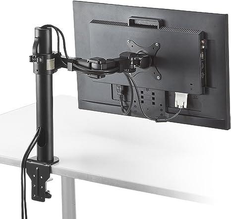 サンワダイレクト モニターアーム 水平3関節 画面回転対応 耐荷重10kg クランプ固定 100-LA029