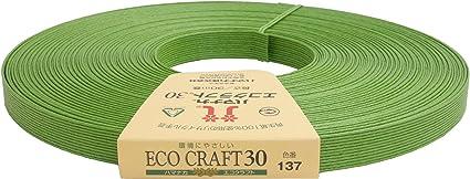 ハマナカ エコクラフト 約 15mm巾 30m巻 Col.137 抹茶 2508