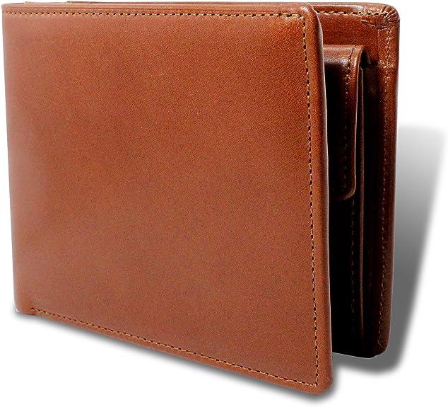 [栃木レザー] 財布 メンズ 二つ折り財布 マチ付き 本革 日本製 札入れ 小銭入れ 多収納 TGS-3355