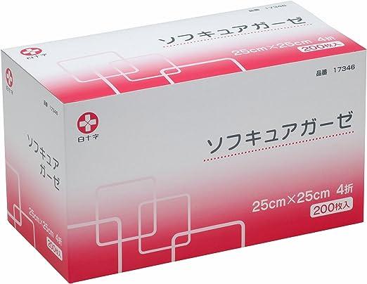白十字 ソフキュアガーゼ 25×25 4折 200枚入 [一般医療機器]
