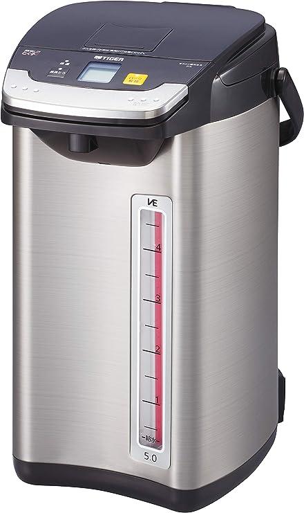 タイガー魔法瓶(TIGER) 電気ポット 5L ブラック 蒸気レス 節電 VE 保温 とく子さん PIE-A500-K