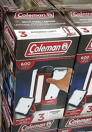 COLEMAN コールマン 3パネル LEDランタン 600ルーメン、USB充電可能