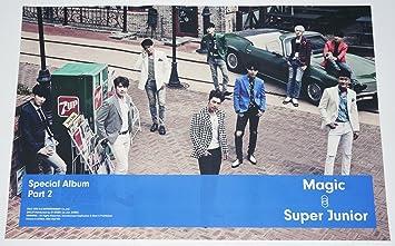 【公式ポスター】 Super Junior スーパージュニア - MAGIC (Special Album Part.2) OFFICIAL POSTER [Typa-A] ...