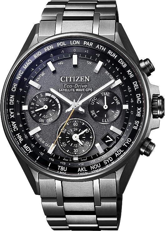 [シチズン] 腕時計 アテッサ F950 Eco-Drive エコ・ドライブGPS衛星電波時計 ブラックチタンシリーズ ダブルダイレクトフライト CC4004-58E メンズ...
