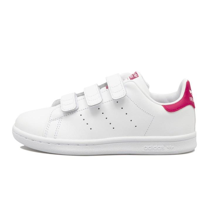 キッズ 【adidas】 アディダス STAN SMITH CF C スタンスミス CF C B32706 WTH/WTH/BOPINK