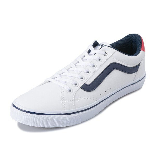 【VANS】 WEEKLY COURT ヴァンズ ウィークリーコート V441 WHITE/NAVY/RED