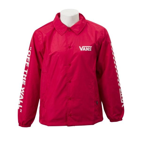 【VANSウェア】VANS Sports Coach Jacket ヴァンズ コーチジャケット VA18FW-MJ09 RED