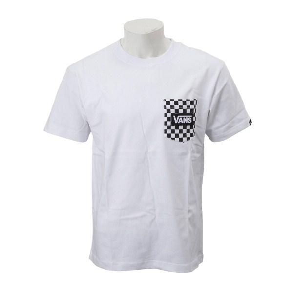 【VANSウェア】VANS CHECKER POCKET S/S-TEE ヴァンズ ショートスリーブTシャツ CD-MT22 WHITE