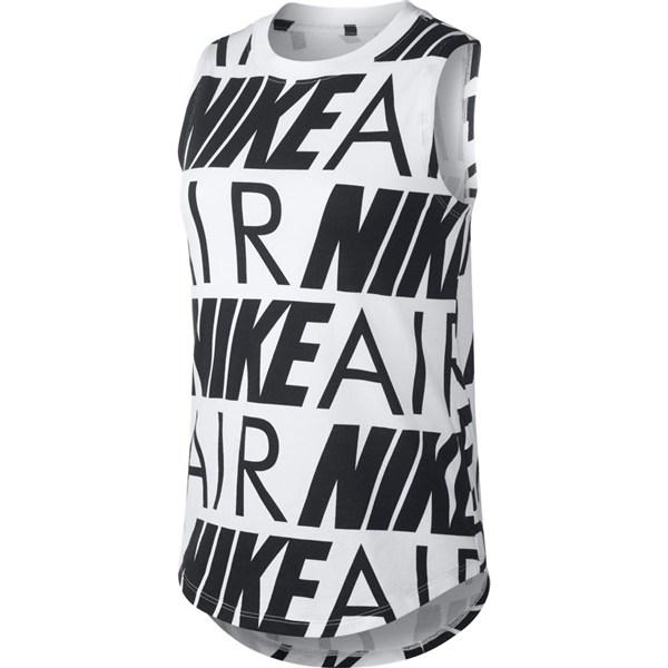 キッズ 【NIKE ウェア】 ナイキウェア キッズ ガールズ ナイキ エア タンク BQ0993-100 100 WHITE/BLACK