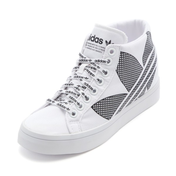 レディース 【adidas】 アディダスオリジナルス COURTVANTAGE コートバンテージ FU6820 ABC-MART限定 WHT/BLK