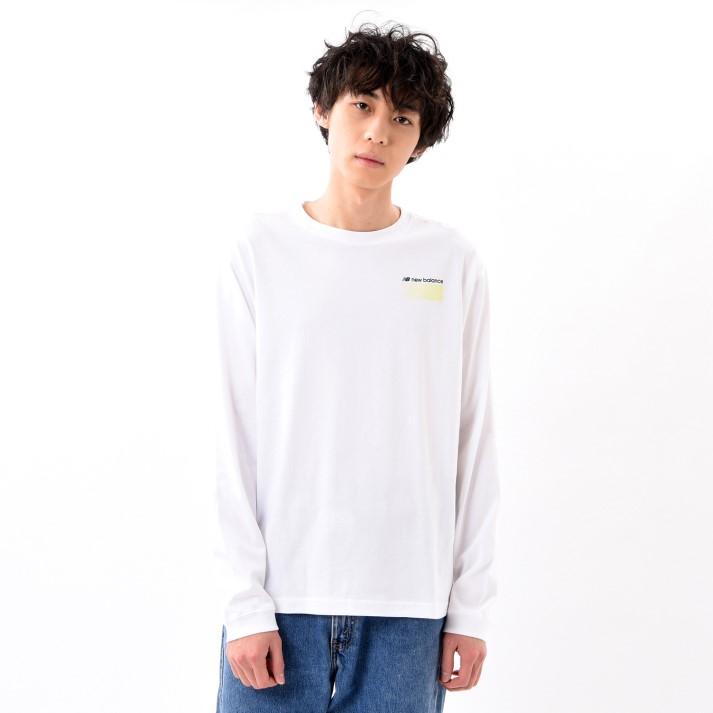 【New Balanceウェア】 ニューバランス ウェア MオプティクスLS Tシャツ MT01537WT WT(ホワイト)
