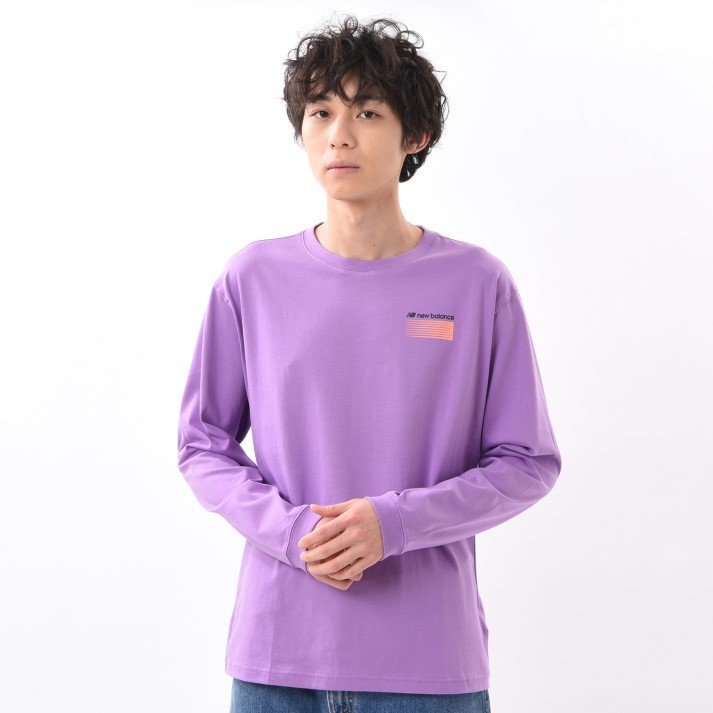 【New Balanceウェア】 ニューバランス ウェア MオプティクスLS Tシャツ MT01537NVI NVI(バイオレット)