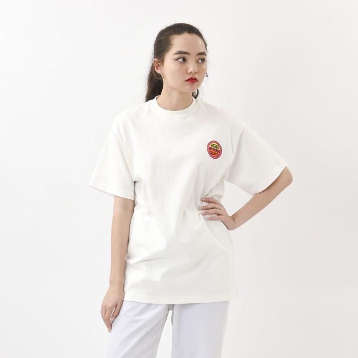 【VANS×X-girl】W Circle Logo S/S-T ヴァンズ ショートスリーブTシャツ 120H3010238 WHITE