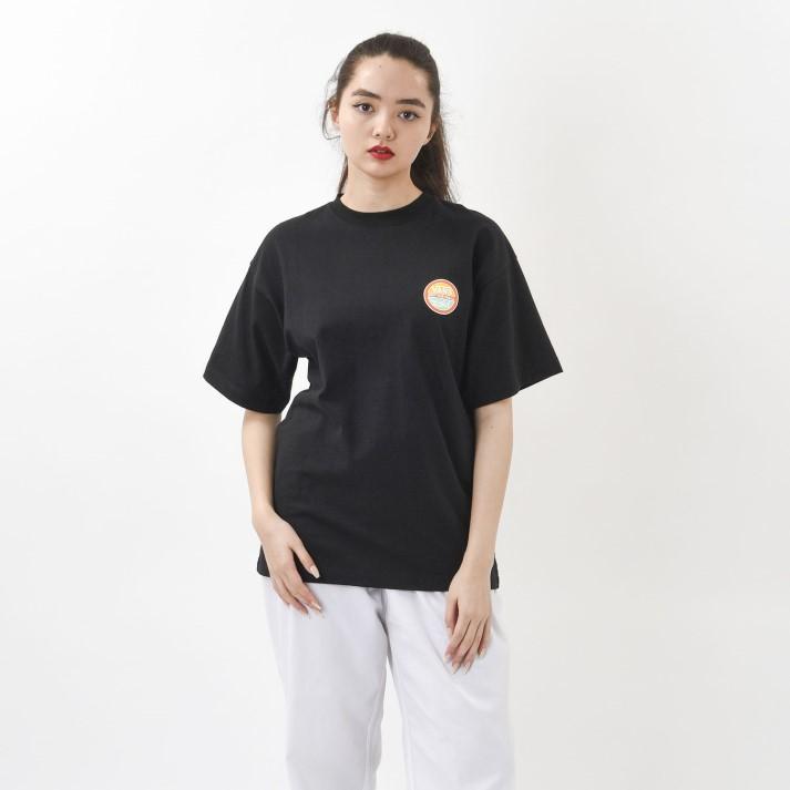 【VANS×X-girl】W Circle Logo S/S-T ヴァンズ ショートスリーブTシャツ 120H3010238 BLACK