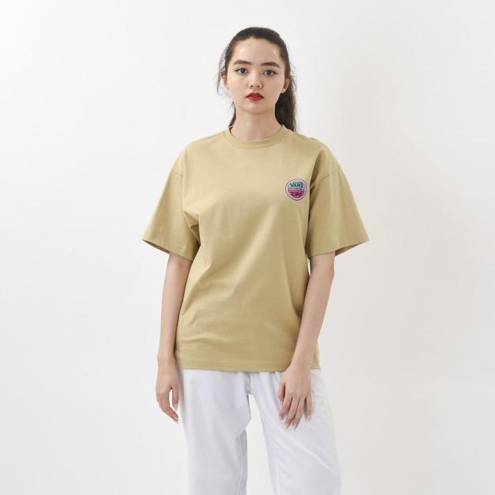 【VANS×X-girl】W Circle Logo S/S-T ヴァンズ ショートスリーブTシャツ 120H3010238 BEIGE