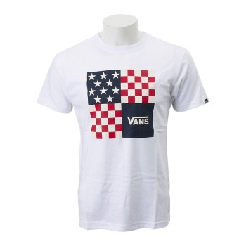 【VANSアパレル】 ヴァンズ Tシャツ VANS Nation S/S T-Shirt VA18HS-MT03 18SM WHITE