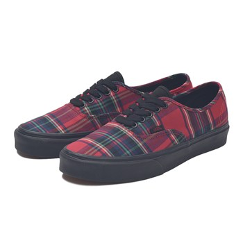 【VANS】AUTHENTIC ヴァンズ オーセンティック VN0A38EMU5P (PLAID)RED/BK