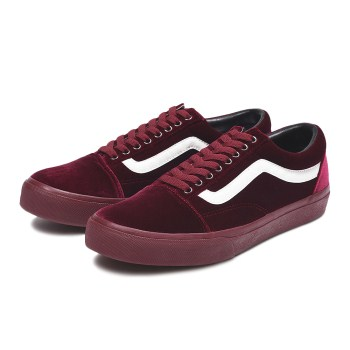 【VANS】OLD SKOOL DX ヴァンズ オールドスクール DX V36CL+ VELOUR BURGUNDY