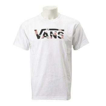 【VANSウェア】Rose Flying-V S/S T-Shirt ヴァンズ ショートスリーブTシャツ VA19SS-MT25 WHITE