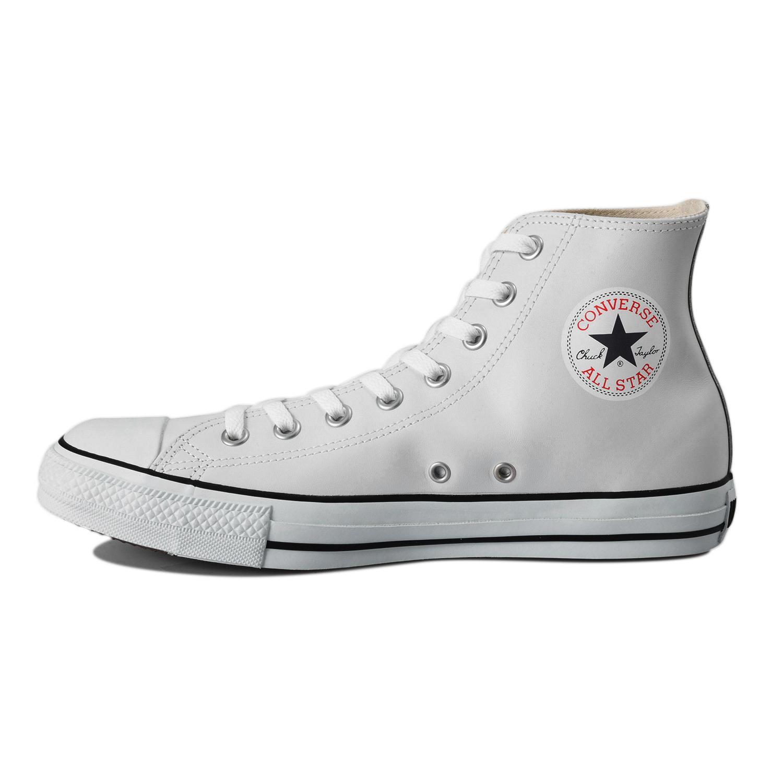 【CONVERSE】 コンバース LEA ALL STAR HI レザー オールスター HI 32044990 WHITE