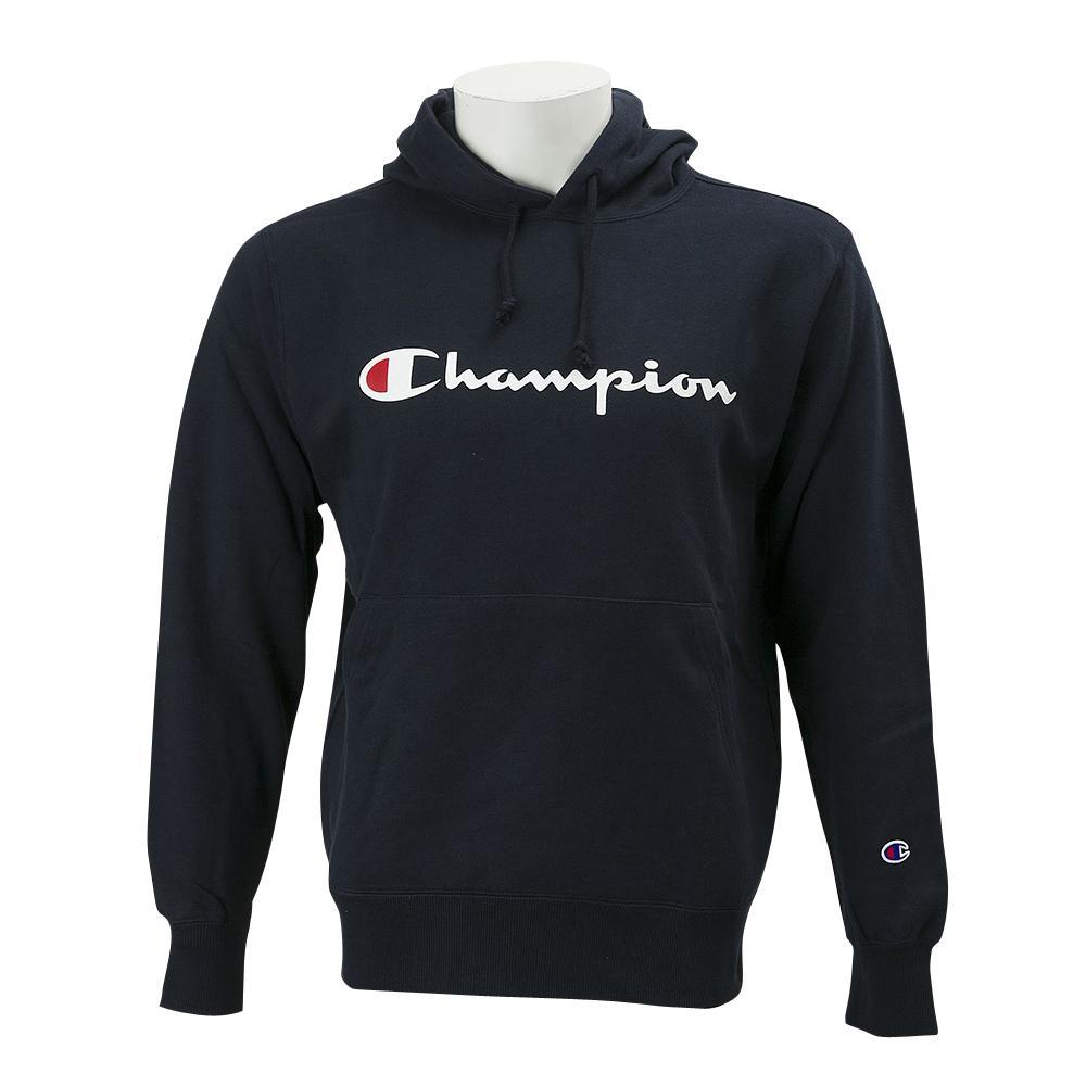 【CHAMPION】 チャンピオン U Basic ロゴPOパーカー ロングスリーブ C3-J117 ネイビー
