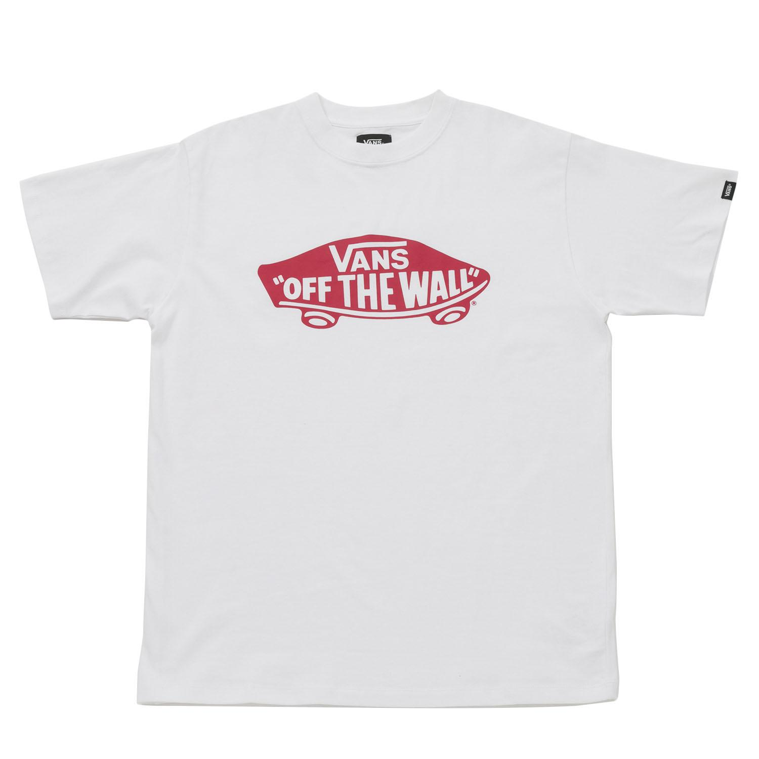 【VANSアパレル】 ヴァンズ Tシャツ SK8 DECK BASIC S/S-TEE VANS-03ABC WHT/RED