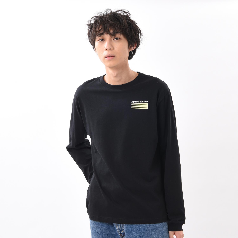 【New Balanceウェア】 ニューバランス ウェア MオプティクスLS Tシャツ MT01537BK BK(ブラック)