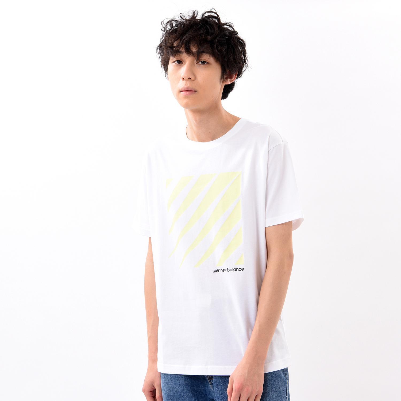 【New Balance】 ニューバランス MオプティクスSS Tシャツ ショートスリーブ Tシャツ MT01539WT WT(ホワイト)