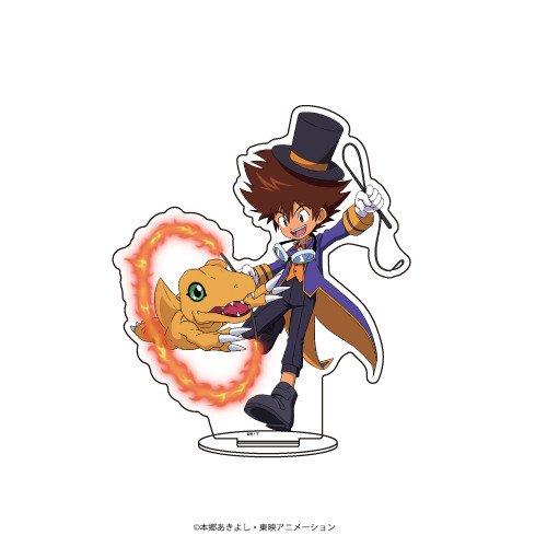 キャラアクリルフィギュア「デジモンアドベンチャー」01/八神太一&アグモン