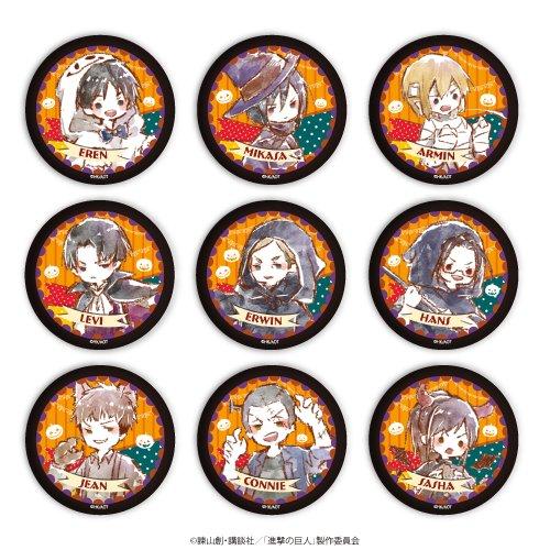 缶バッジ「進撃の巨人」03/ハロウィンver.ブラインド(全9種)(グラフアート)
