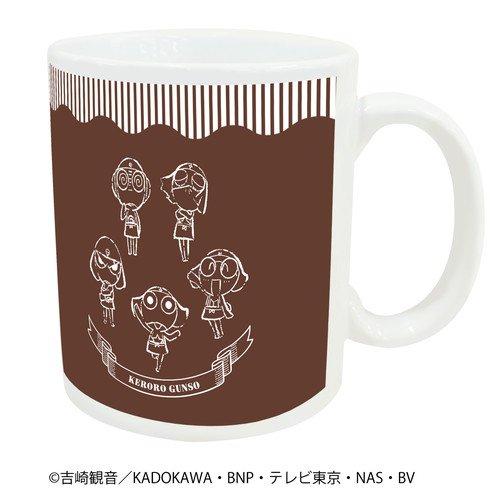 マグカップ「ケロロ軍曹」01/ケロロ小隊整列デザイン カフェver.(グラフアート)