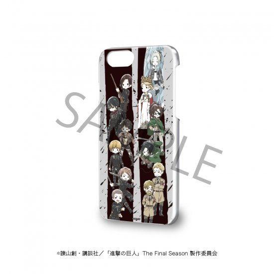 ハードケース(iPhone6/6s/7/8兼用)「進撃の巨人」01/The Final Season ver. 集合デザイン(グラフアート)