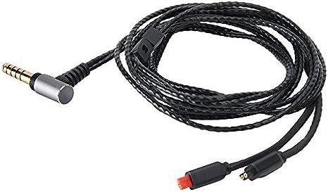 4.4mm 5極 バランス 単結晶銅 Audio-technica オーディオテクニカ ATH-IM04 IM50 IM70 対応リケーブル ビバボ IM01 IM02 IM...