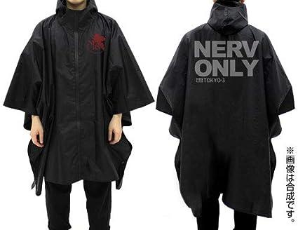 EVANGELION ネルフ レインポンチョ/BLACK