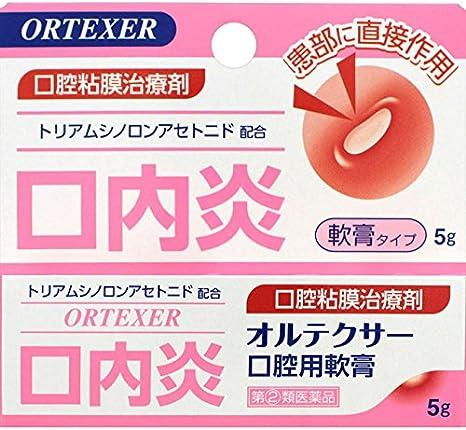 【指定第2類医薬品】オルテクサー口腔用軟膏5g