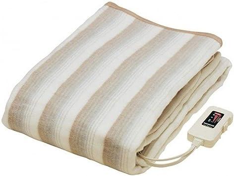 【日本製】 掛け敷き 兼用 電気毛布 188×130cm 丸洗い可能 / 安心の 日本製 室温センサー ダニ退治 機能付き 掛け毛布 敷き毛布 冬用寝具