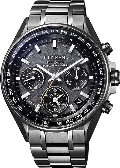 [シチズン] 腕時計 アテッサ CC4004-58E F950 Eco-Drive エコ・ドライブGPS衛星電波時計 ブラックチタンシリーズ ダブルダイレクトフライト メンズ...
