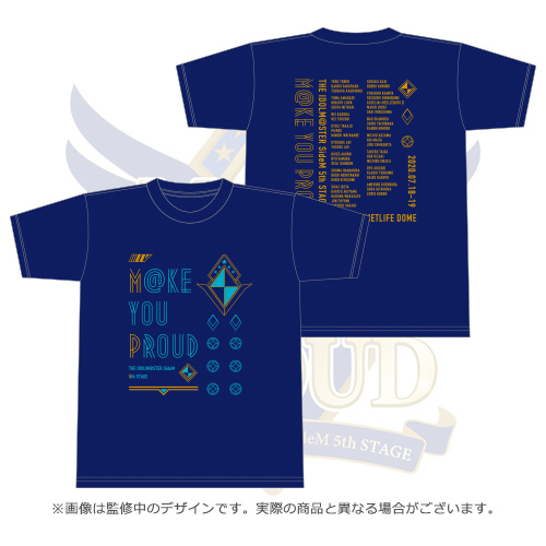 THE IDOLM@STER SideM 5th STAGE ~M@KE YOU PROUD~ 公式Tシャツ ネイビー Sサイズ