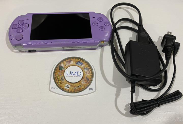 アイルー村パック PSP本体 ソフト ライラックパープル PSP3000
