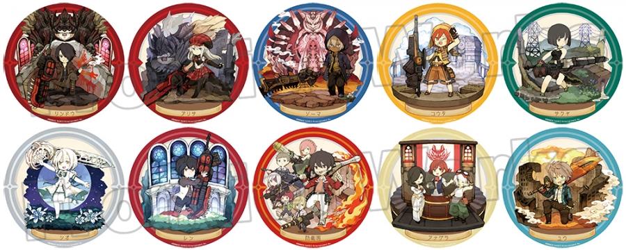 【グッズ-バッチ】特価 ゴッドイーター キャラクタークロニクル トレーディング缶バッジ